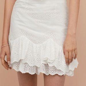 H&M white eyelet skirt